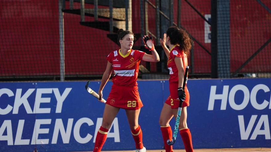 Victoria de las RedSticks en Valencia ante Alemania