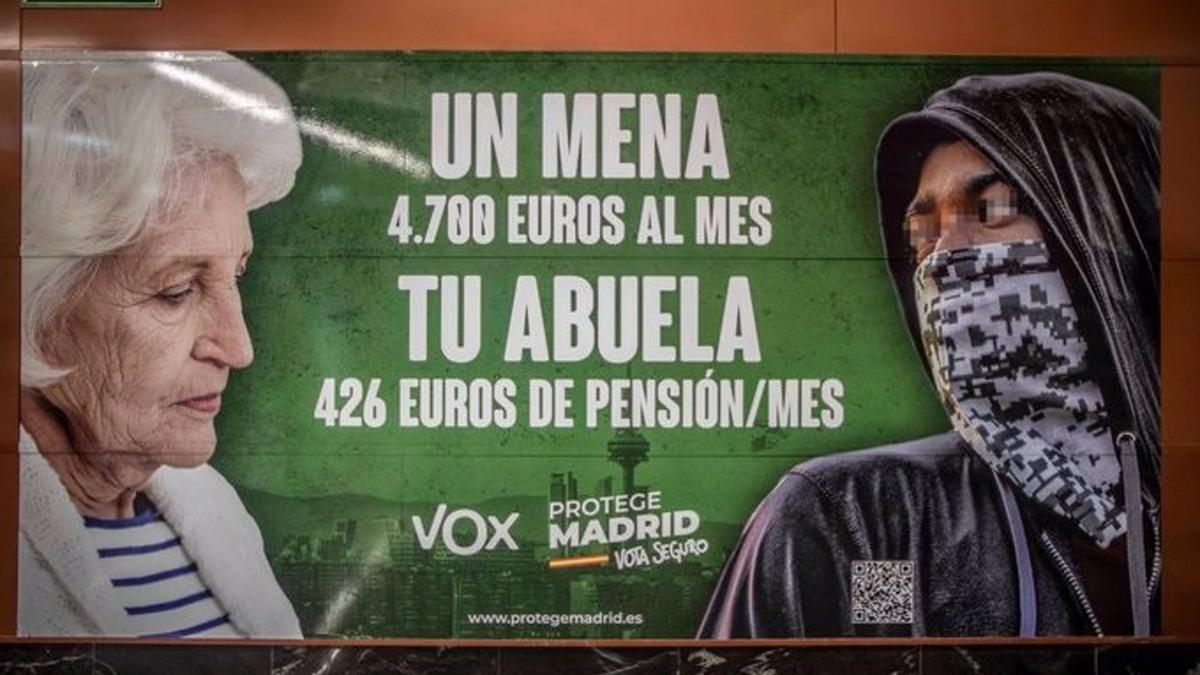 Cartel electoral de Vox.