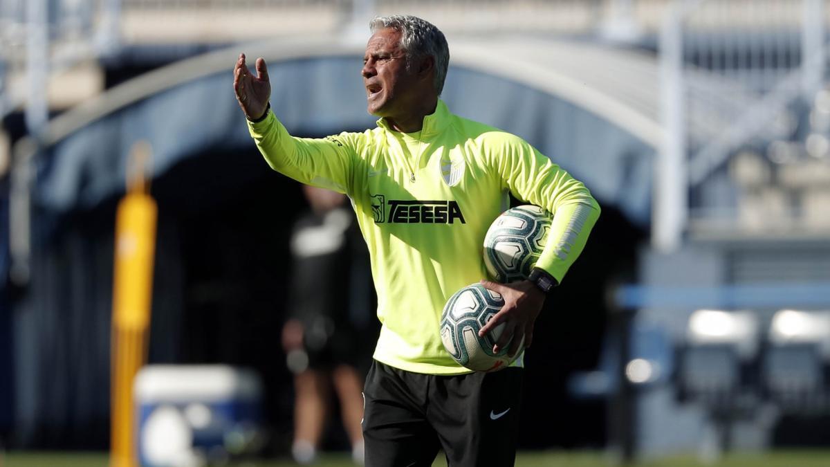 Sergio Pellicer, entrenador del Málaga CF