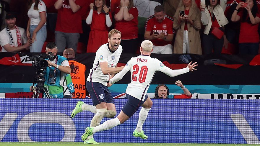Inglaterra gana a Dinamarca en la prórroga y se verá con Italia en la final de la Eurocopa
