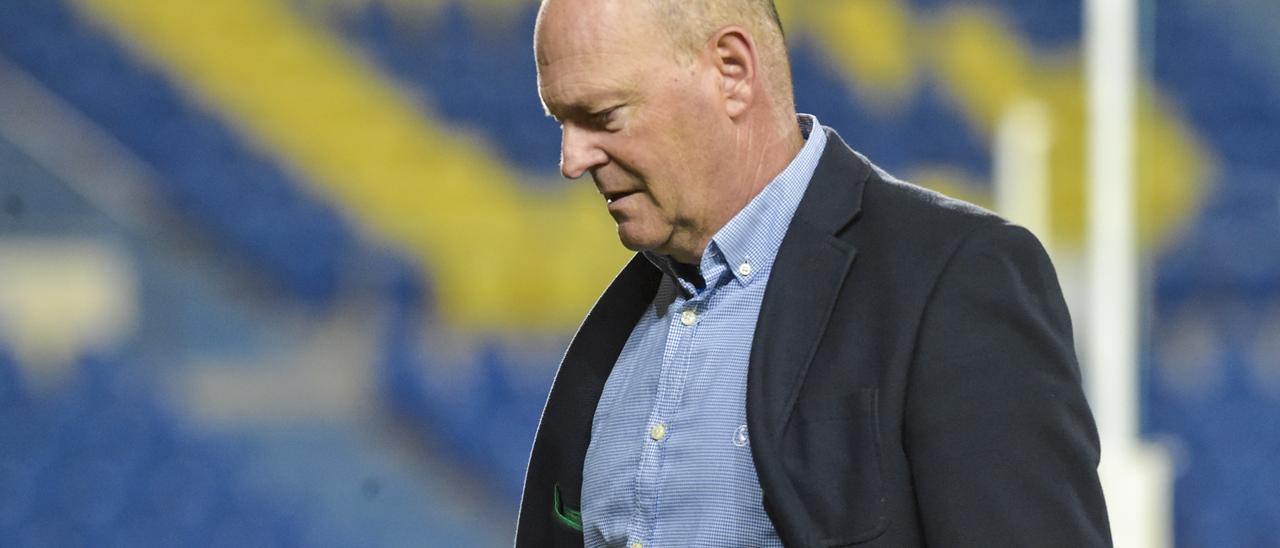 Pepe Mel, técnico de la UD, el lunes pasado durante el choque ante el Albacete.
