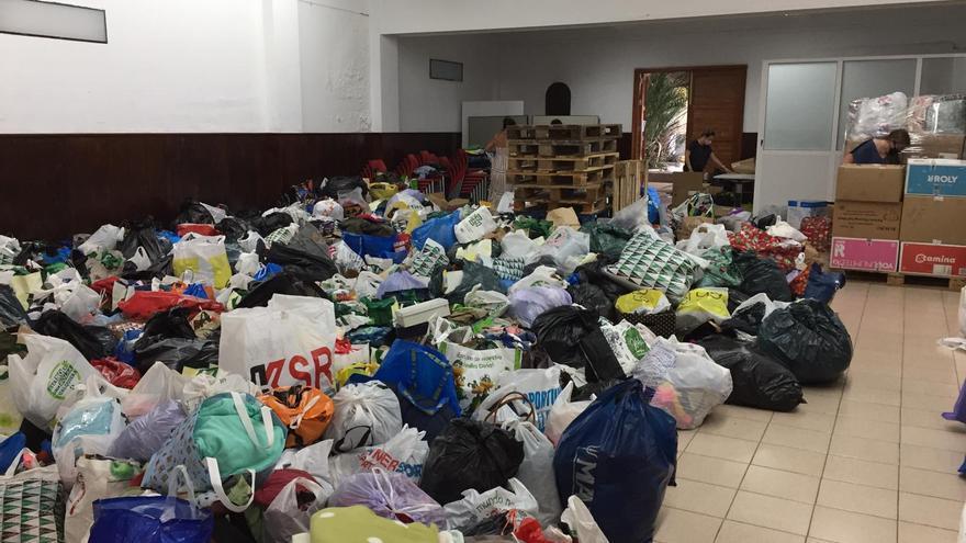 La ola de solidaridad con La Palma sorprende a ONG y sindicatos