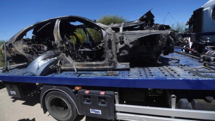 Al cotxe de Reyes se li va rebentar una roda quan circulava a 237 km/hora