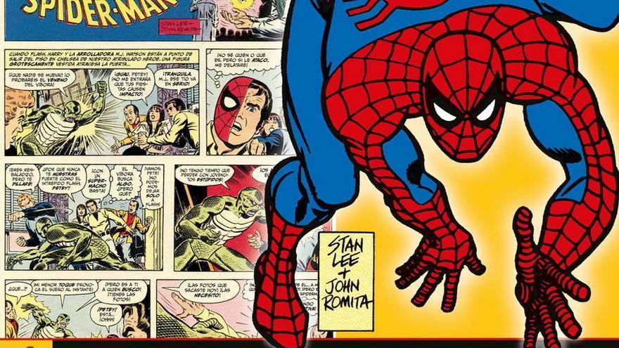 Spiderman, enredado entre periódicos