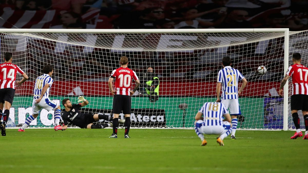 Oyarzabal's goal that gave the Cup to Real Sociedad.