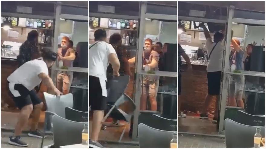 El vídeo de la pelea que dejó 5 heridos en un bar de València