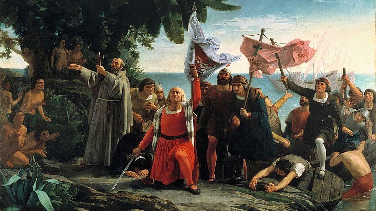 Desembarco de Colón, de Dióscoro Puebla