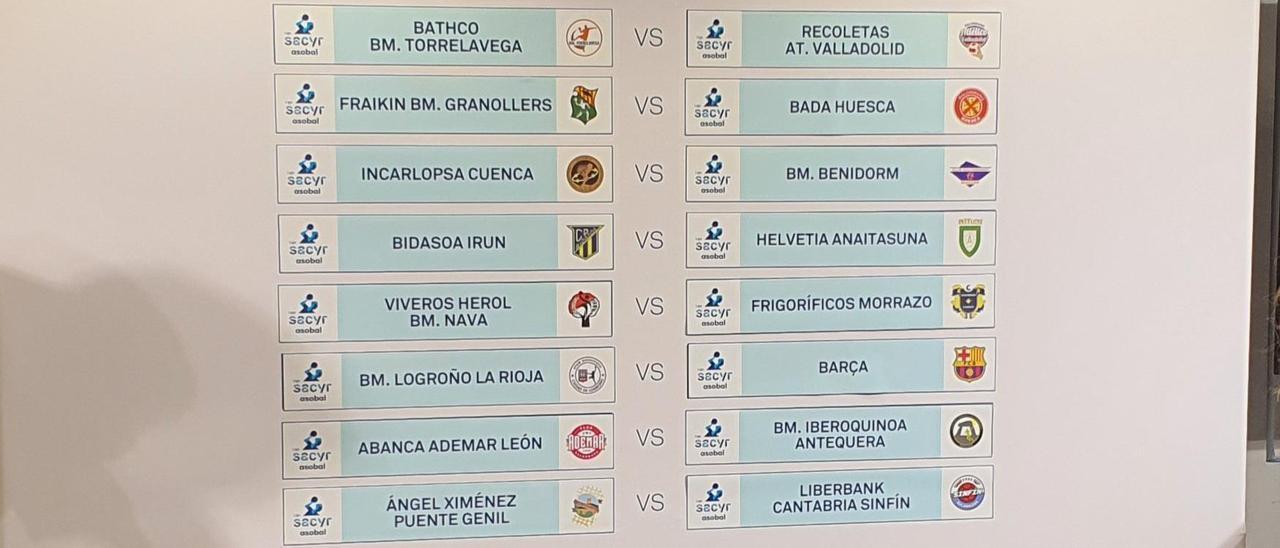 El gráfico con los partidos de la primera jornada de la liga 2021/22