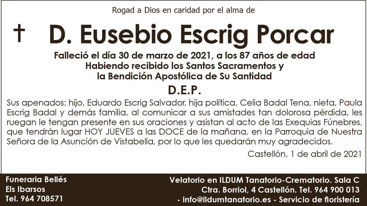 D. Eusebio Escrig Porcar