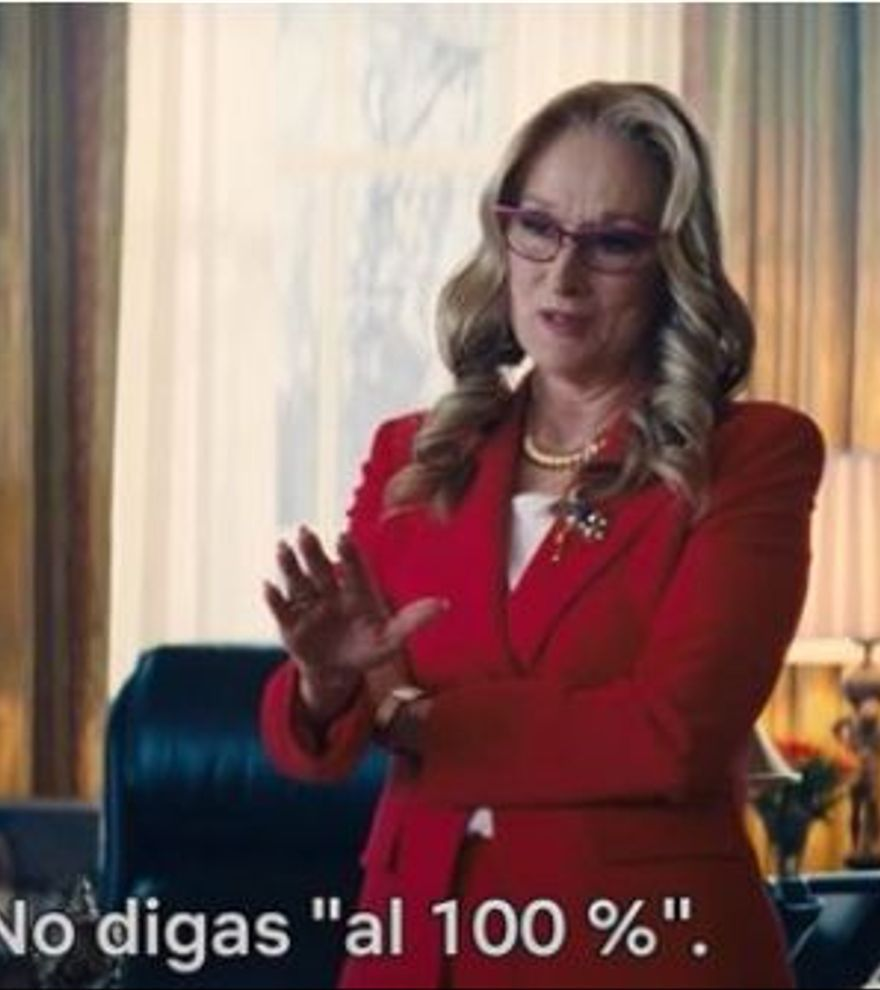 Meryl Streep se viste de Biden en el nuevo adelanto de 'No mires arriba'