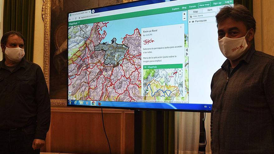 Una aplicación móvil recopila 26 rutas por las parroquias rurales de Gijón para promocionar el patrimonio natural e industrial