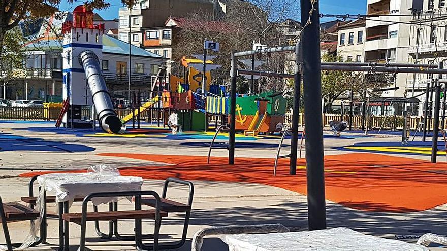 Los niños de Moaña podrán estrenar, a partir de mañana, el renovado Parque do Barco