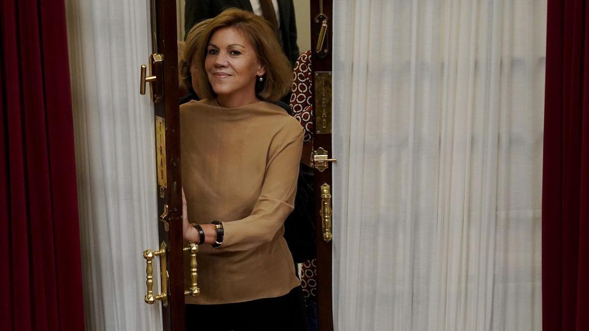 María Dolores de Cospedal, en noviembre de 2018, en uno de sus últimos días como diputada.