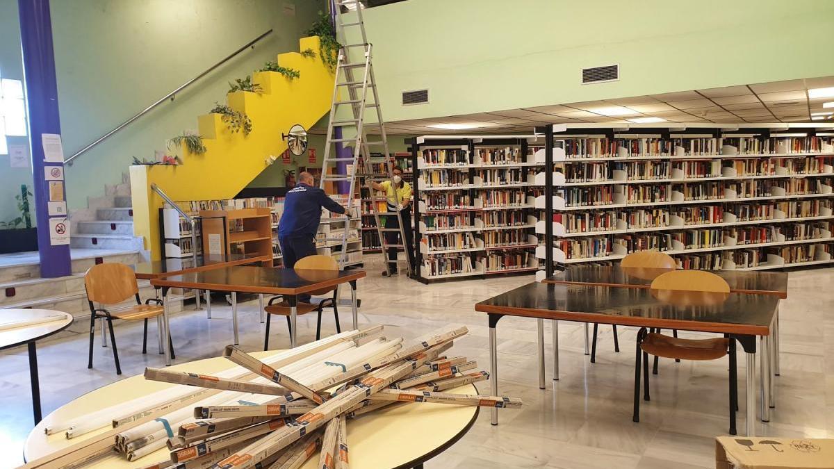 Comienzan las obras de reforma en el interior de la Casa de la Cultura de Caravaca