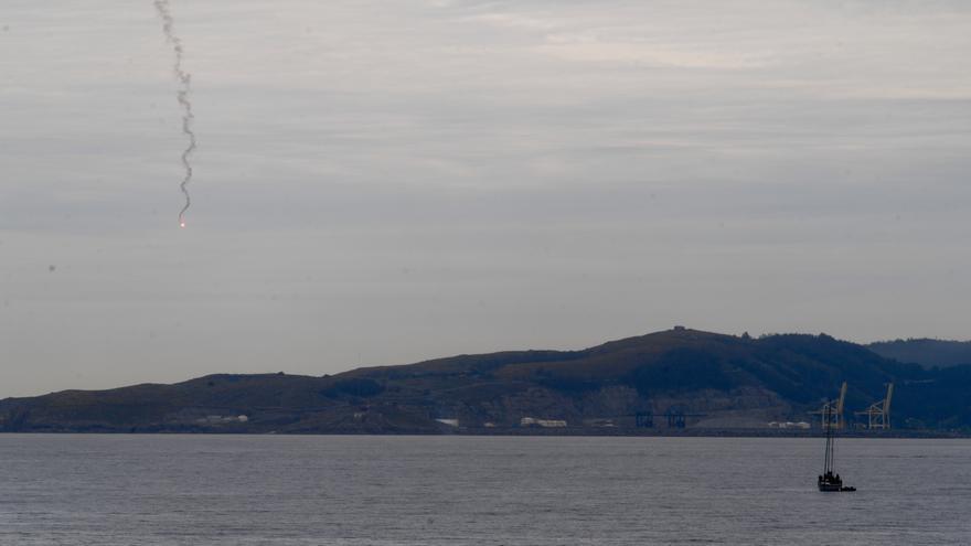 Bengalas en el mar de A Coruña