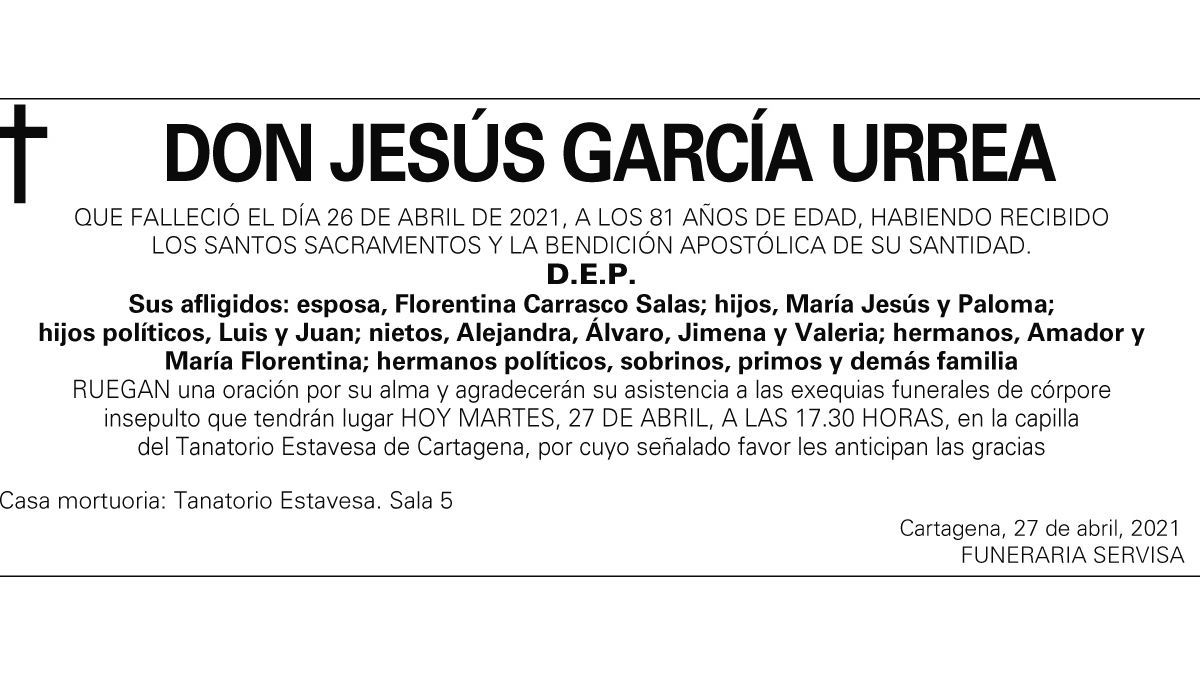 D. Jesús García Urrea