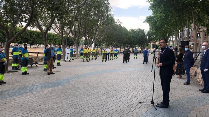 Murcia homenajea al personal de limpieza por su trabajo contra la Covid-19