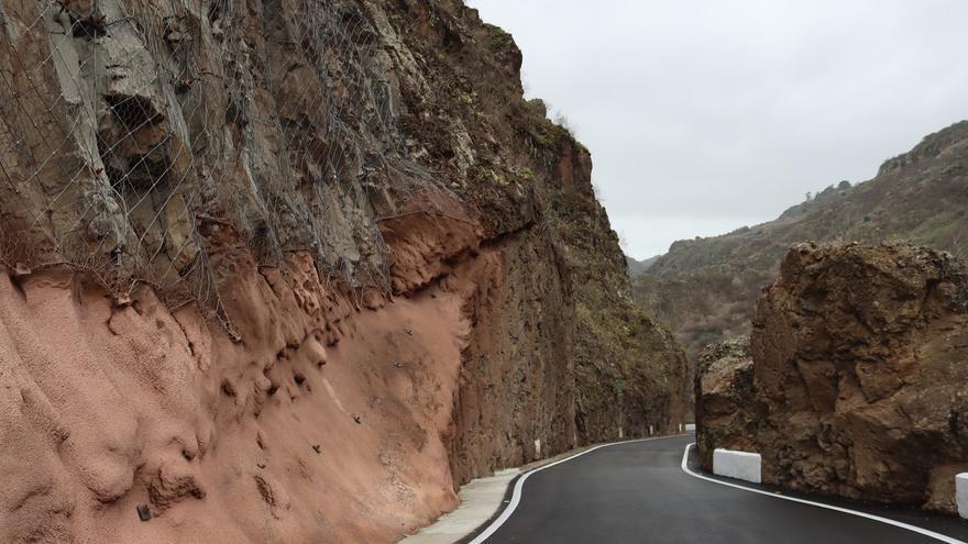 Reabre al tráfico la carretera entre Firgas y Moya