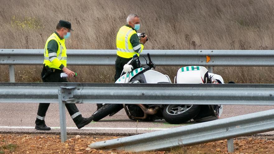 Fallece un motorista de la Guardia Civil en Salamanca