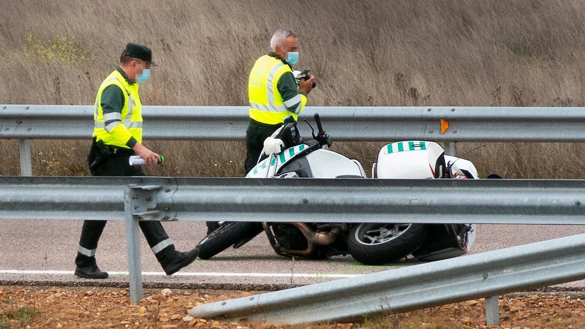Fallece un motorista de la Guardia Civil en Salamanca.