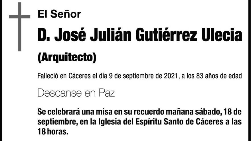 D. José Julián Gutiérrez Ulecia