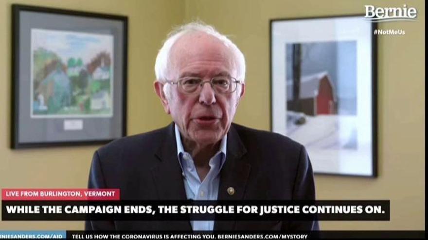Sanders abandona y Biden será el candidato demócrata