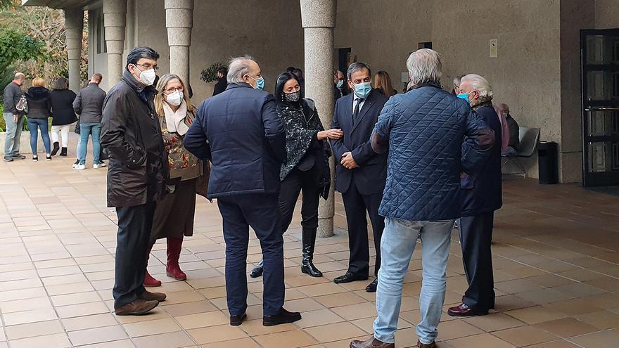 Amigos, compañeros y familiares de Mantilla se despidieron de él ayer en Vigo Memorial