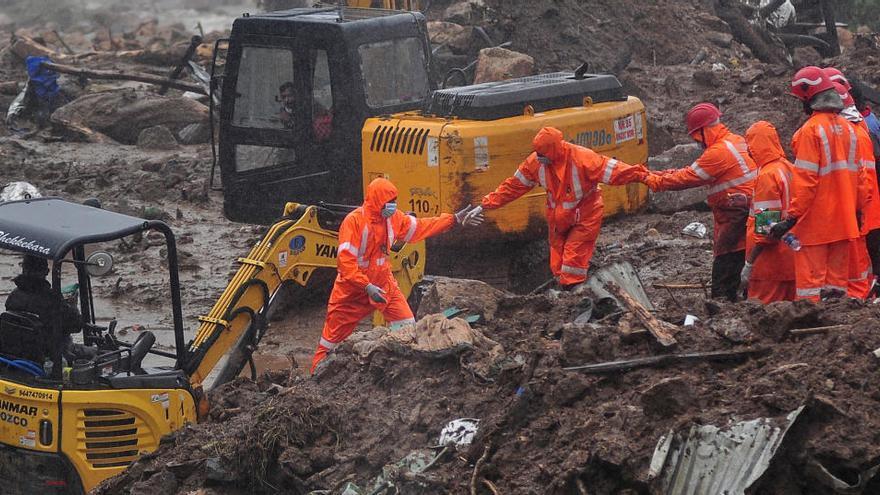 Més de 40 morts per una allau en el sud de l'Índia a causa de les pluges monsòniques