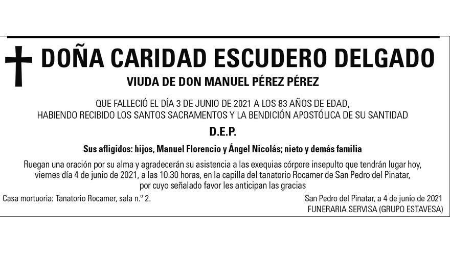 Dª Caridad Escudero Delgado