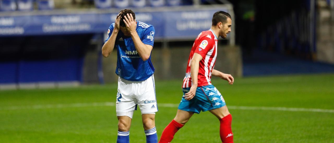 Leschuk, en el partido ante el Lugo