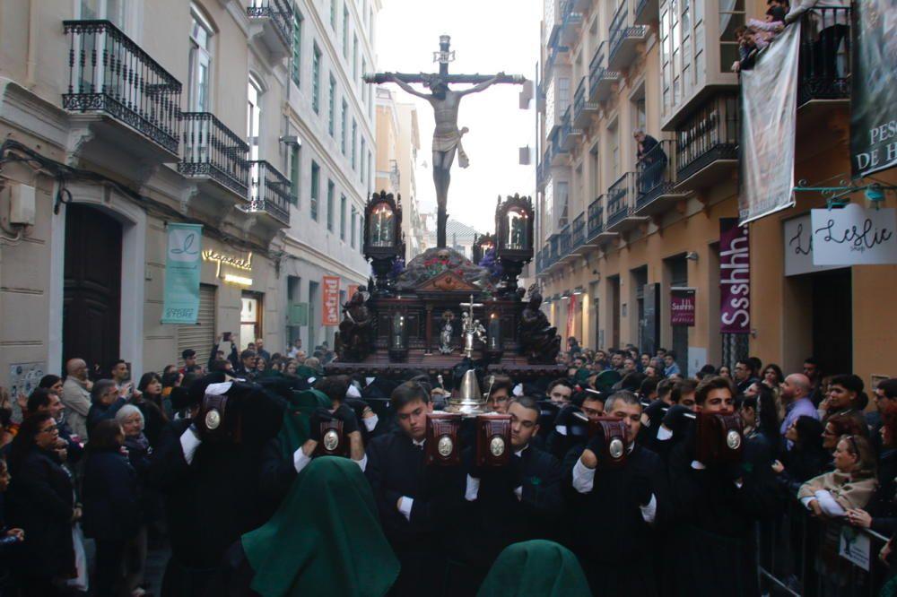 Las imágenes de la procesión de Vera Cruz, en el Jueves Santo de la Semana Santa de Málaga
