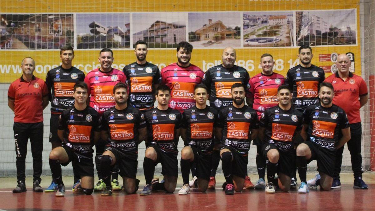 El equipo del Arealonga FS Chapela, campeón de liga. / FdV