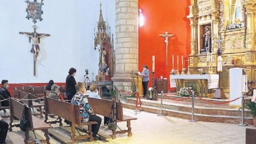 El santuario de La Salud de Alcañices solo cubre el 6% del aforo en su reapertura