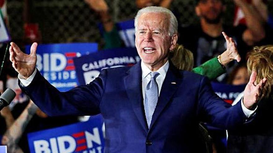 L'exvicepresident Joe Biden guanya               en 9 dels 14 estats del superdimarts