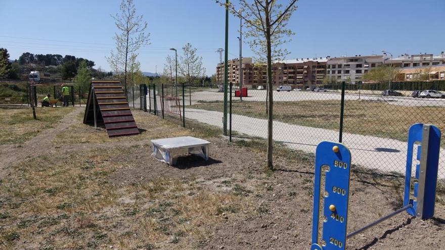 Matinal de actividades en la nueva zona de juegos para perros del Passeig de Benarrai