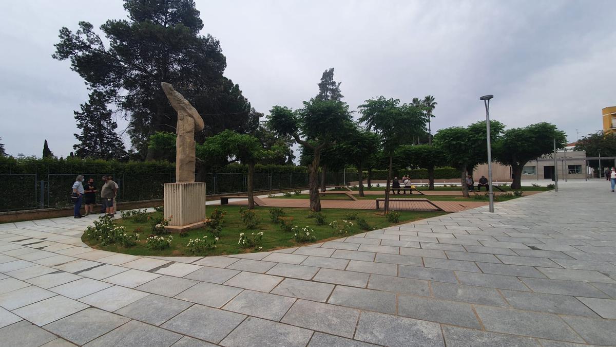 Estado que presenta la plaza Margarita Xirgu tras las obras de mejora.