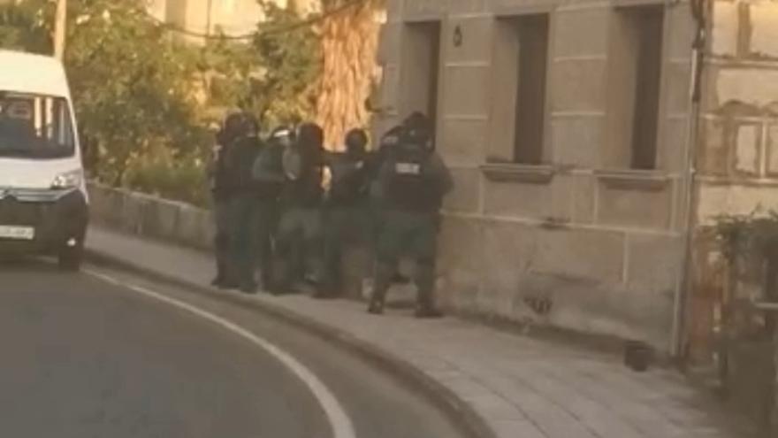 Registro en Rairo dentro de la operación que desmanteló un grupo criminal en Galicia