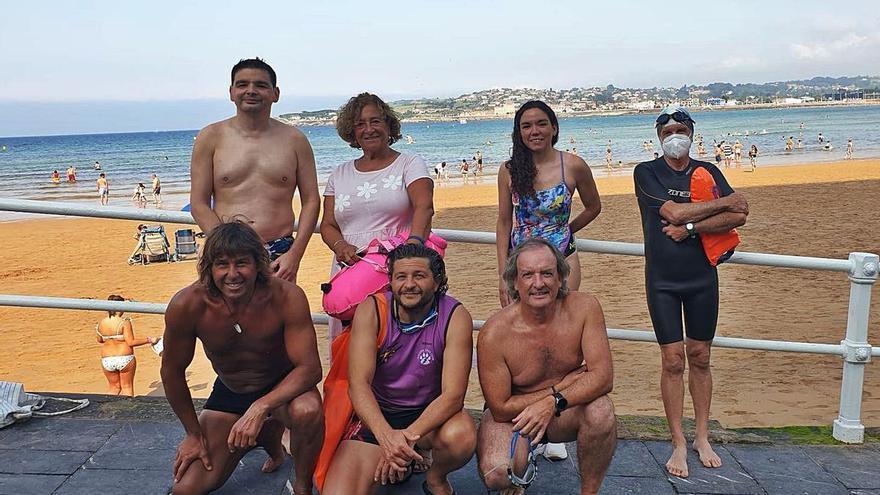 El Rampa 2, ante su primer reto: ocho nadadores asturianos cubrirán diez kilómetros desde las islas Cíes hasta Vigo