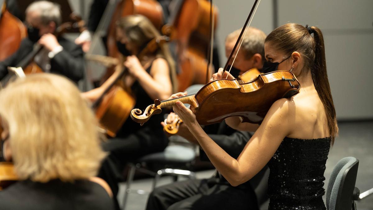 Un concierto de la Sinfónica de Tenerife.