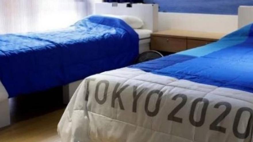 Las camas antisexo de la villa olímpica de Tokio