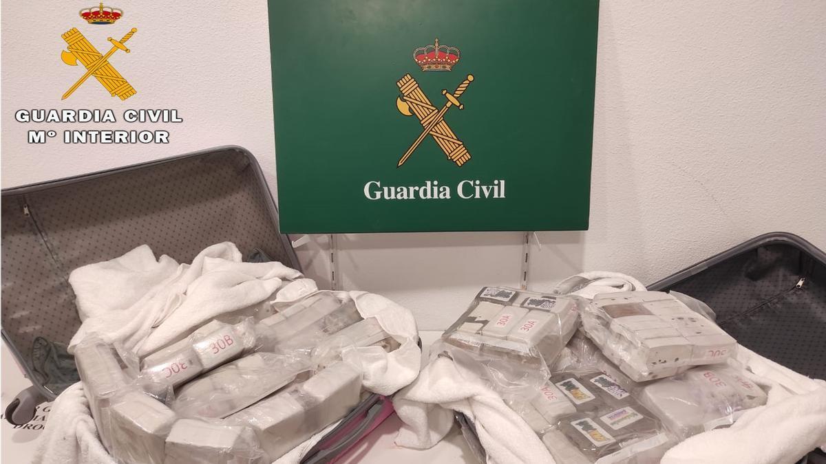 L'haixix comissat per la Guàrdia Civil a la Jonquera