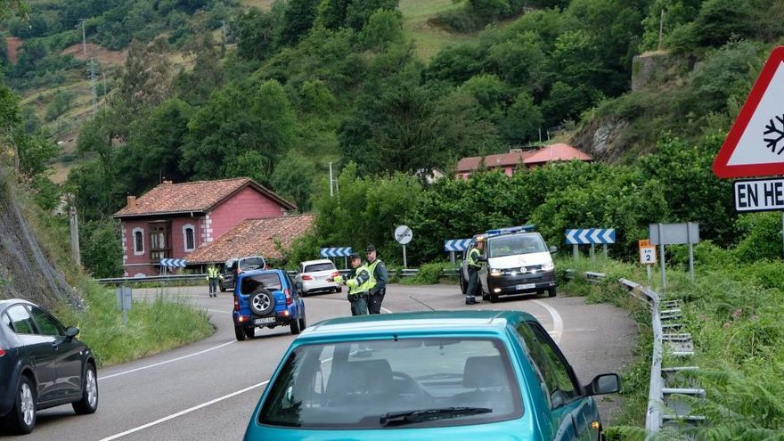 Herido un motorista en un accidente en Bustiello