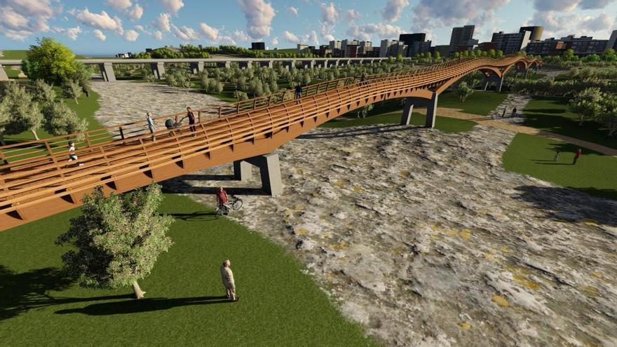 Los trabajos de la pasarela sobre el río Guadalhorce comenzarán en unos días