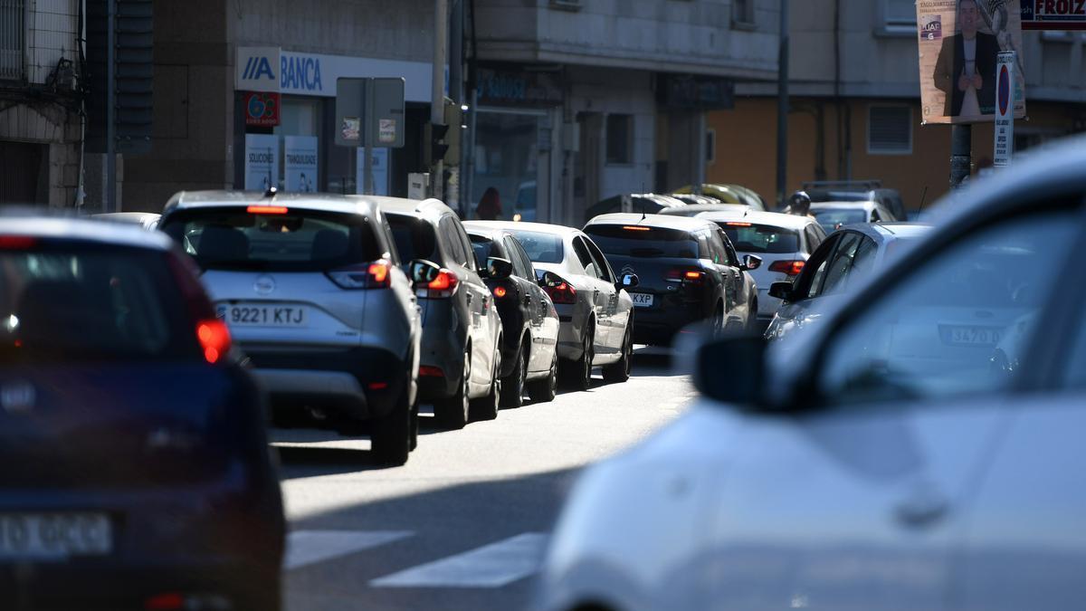 Retenciones en la PO-308 entre Pontevedra y Sanxenxo