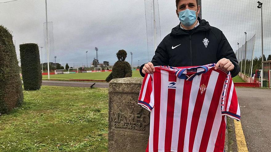 """Manolo Sánchez Murias, como en casa en Mareo: """"Me llena lo que hago en el club"""""""