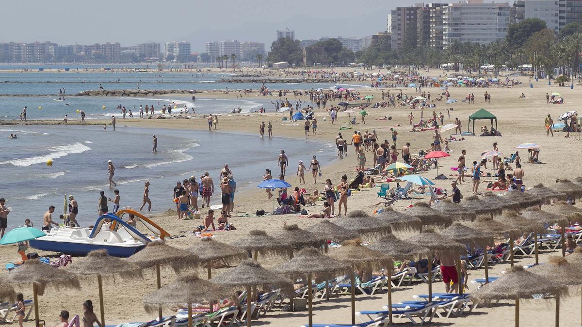 La playa de Voramar, una de las playas con Bandera Azul 2021 de Castelló