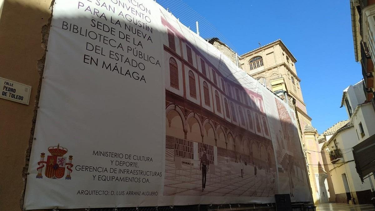 Fachada trasera del antiguo convento de San Agustín.