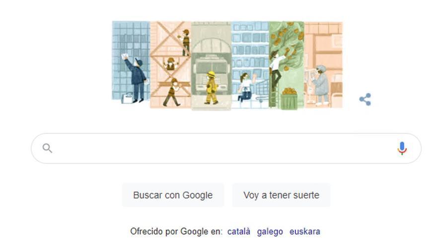 Google dedica su doodle al Día del Trabajador
