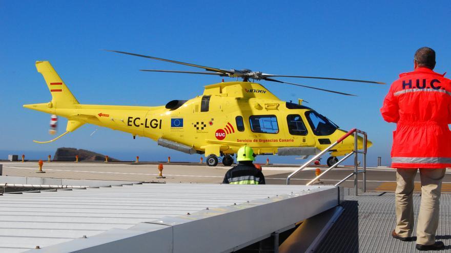 Los traslados en helicóptero hasta el HUC superan la media del 2020