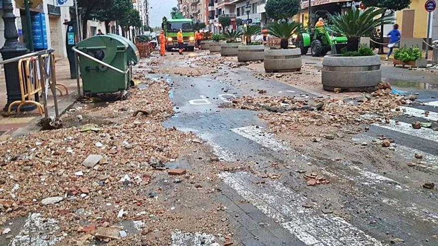 Inundaciones en Xàbia y Dénia por el temporal